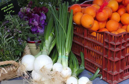 Spring onions are now available at local farmers' markets.